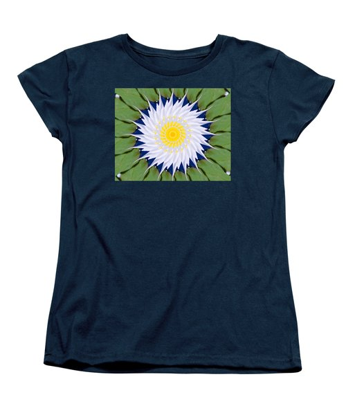 Women's T-Shirt (Standard Cut) featuring the photograph Water Lily Kaleidoscope by Bill Barber