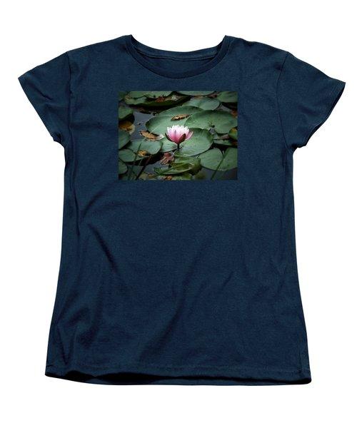 Water Lily Women's T-Shirt (Standard Cut) by Karen Stahlros