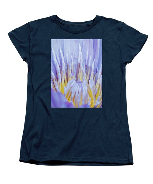 Water Lily Nature Fingers Women's T-Shirt (Standard Cut) by Carol F Austin