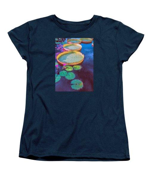 Women's T-Shirt (Standard Cut) featuring the photograph Water Lily Pattern by John Rivera