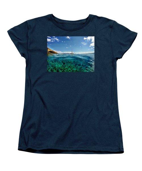 Women's T-Shirt (Standard Cut) featuring the photograph Water Shot by Michael Albright