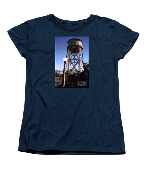 Water Tank Tower Alcartraz Women's T-Shirt (Standard Cut) by Ted Pollard