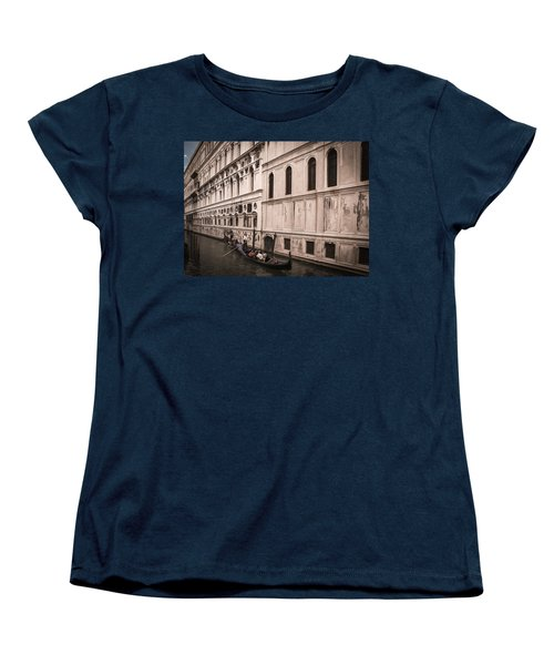 Women's T-Shirt (Standard Cut) featuring the photograph Water Taxi In Venice by Kathleen Scanlan