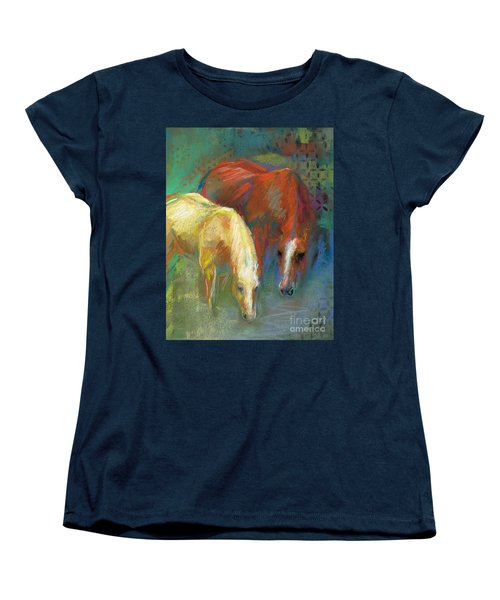 Women's T-Shirt (Standard Cut) featuring the painting Waterbreak by Frances Marino