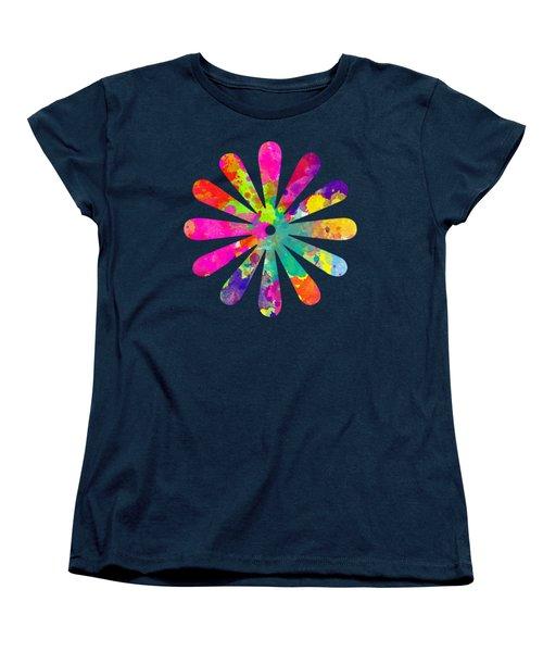 Watercolor Flower 2 - Tee Shirt Design Women's T-Shirt (Standard Cut) by Debbie Portwood