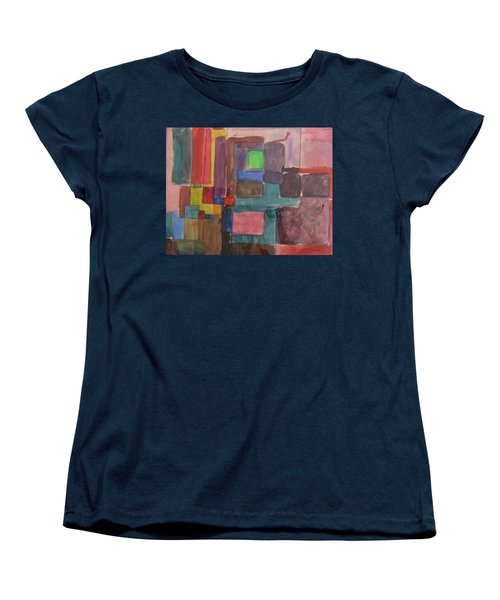 Women's T-Shirt (Standard Cut) featuring the painting Watercolor Shapes by Barbara Yearty