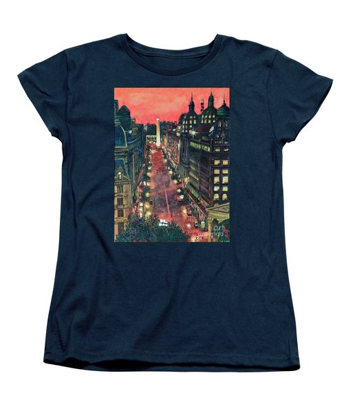 Watercolors-01 Women's T-Shirt (Standard Cut) by Bernardo Galmarini