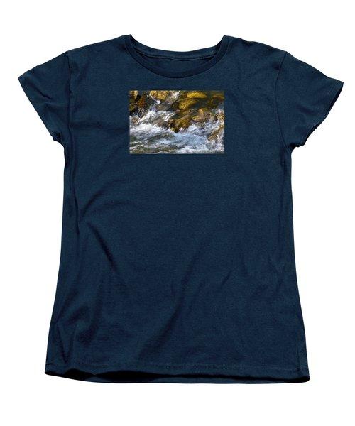 Women's T-Shirt (Standard Cut) featuring the photograph Watercourse by Jean Bernard Roussilhe