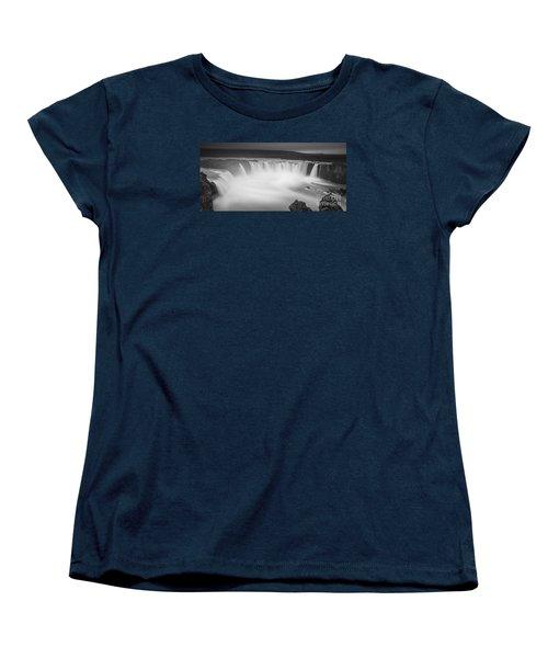 Waterfall Of The Gods Iceland Women's T-Shirt (Standard Cut) by Gunnar Orn Arnason