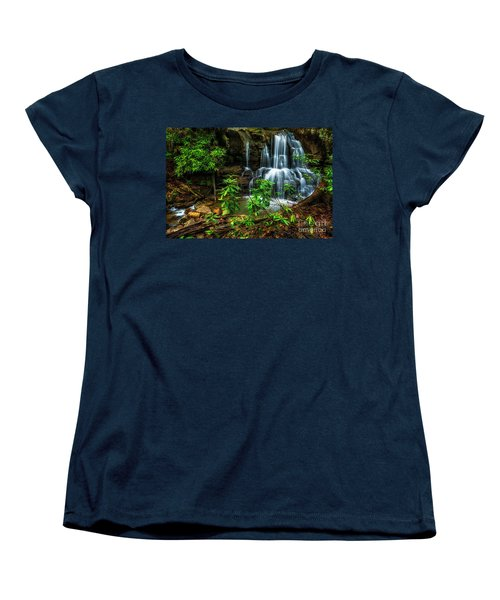 Women's T-Shirt (Standard Cut) featuring the photograph Waterfall On Back Fork by Thomas R Fletcher
