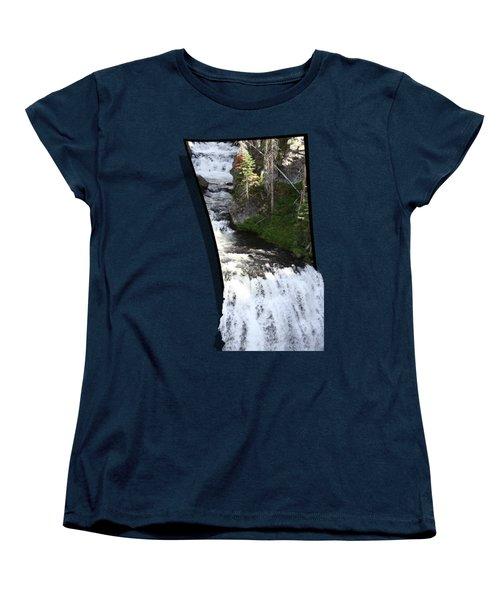 Waterfall Women's T-Shirt (Standard Cut) by Shane Bechler