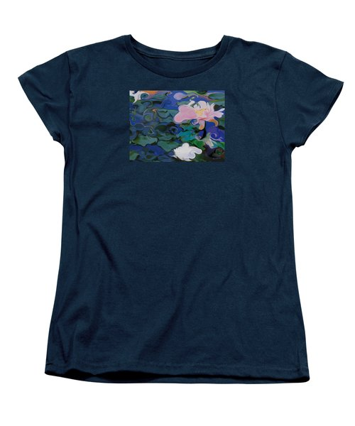 Waterlilies Six Women's T-Shirt (Standard Cut) by David Klaboe