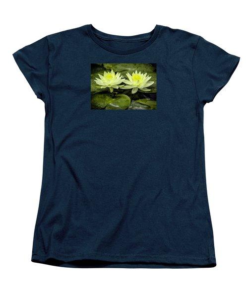 Waterlily Duet Women's T-Shirt (Standard Cut) by Venetia Featherstone-Witty