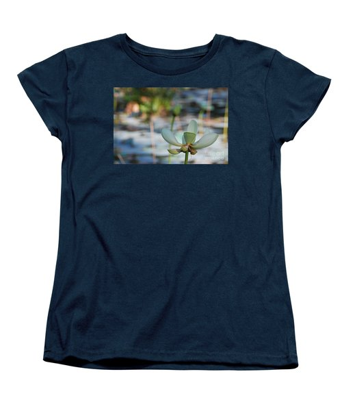 Waterlily Wash Horizontal Women's T-Shirt (Standard Cut) by Heather Kirk