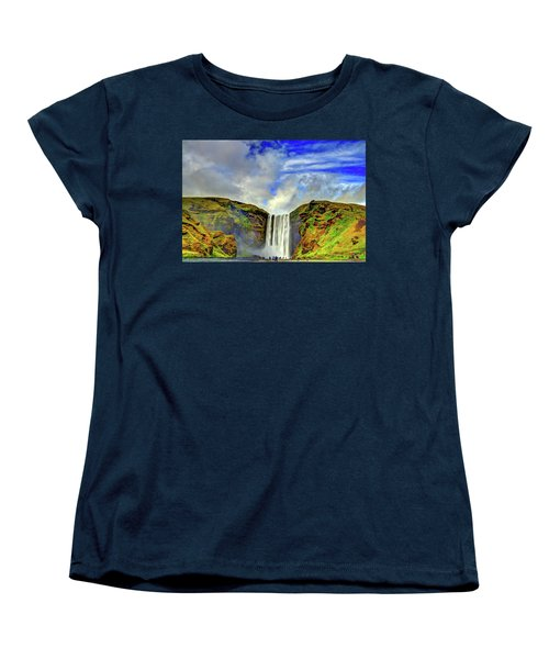 Women's T-Shirt (Standard Cut) featuring the photograph Watermall And Mist by Scott Mahon