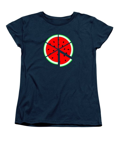 Watermelon Wedge Women's T-Shirt (Standard Cut) by Susan Eileen Evans