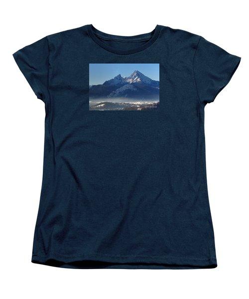 Watzmann Bavaria 1 Women's T-Shirt (Standard Cut) by Rudi Prott