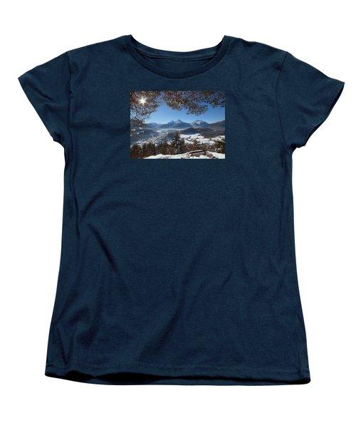 Watzmann Panorama 1 Women's T-Shirt (Standard Cut) by Rudi Prott