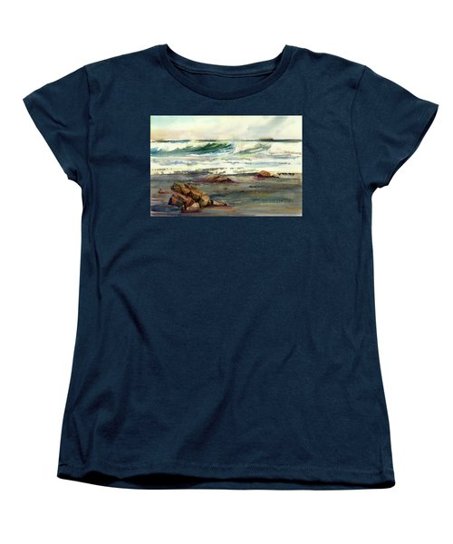 Wave Action Women's T-Shirt (Standard Cut) by P Anthony Visco
