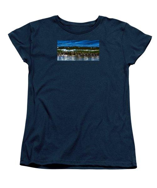 Women's T-Shirt (Standard Cut) featuring the photograph Waves Water Light 2  by Lyle Crump