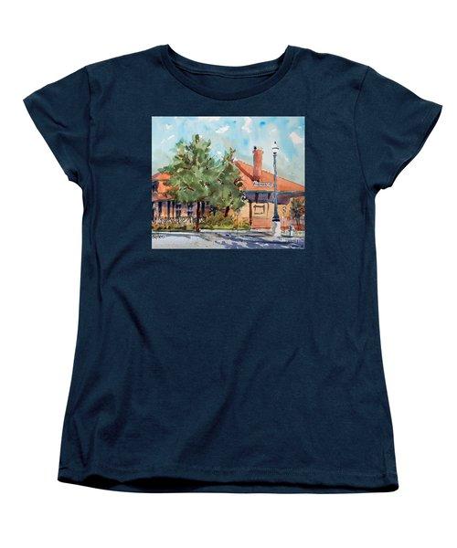 Waxachie Train Station Women's T-Shirt (Standard Cut) by Ron Stephens