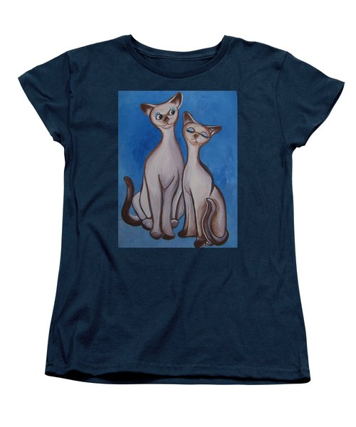 We Are Siamese Women's T-Shirt (Standard Cut) by Leslie Manley