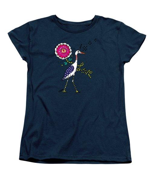 Weak Coffee Lovebird Women's T-Shirt (Standard Cut) by Tara Griffin