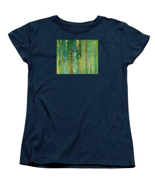 Weathered Moss Women's T-Shirt (Standard Cut) by Alan Casadei