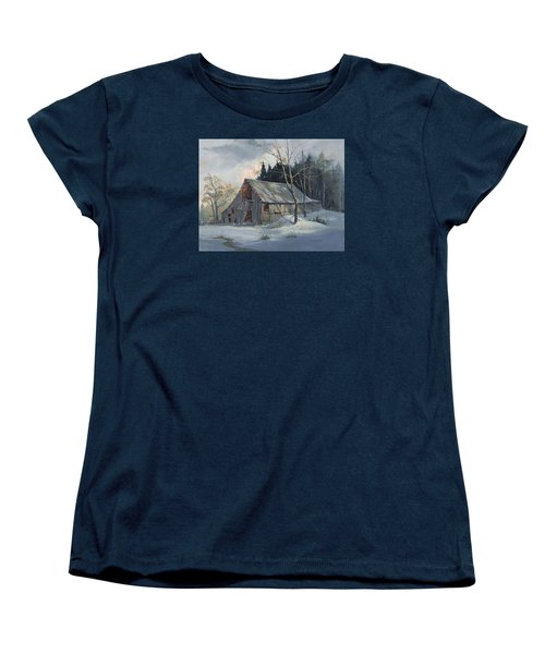 Women's T-Shirt (Standard Cut) featuring the painting Weathered Sunrise by Michael Humphries