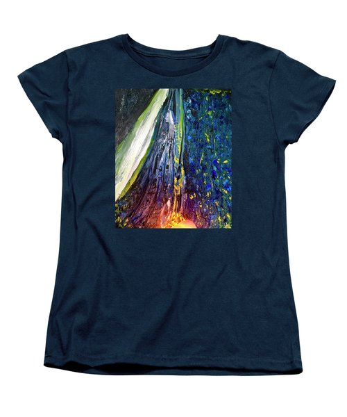 Women's T-Shirt (Standard Cut) featuring the painting Wednesday Turned Into Thursday by Kicking Bear Productions