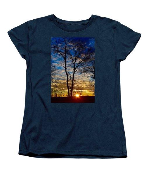 Weekend Sunrise In Minnesota Women's T-Shirt (Standard Cut) by Dacia Doroff