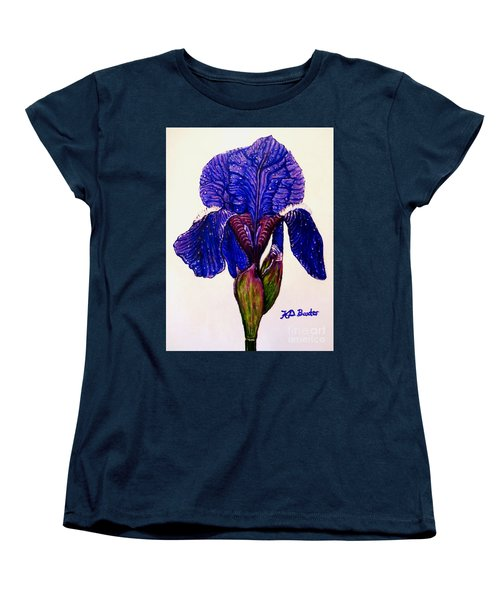 Weeping Iris Women's T-Shirt (Standard Cut) by Kimberlee Baxter