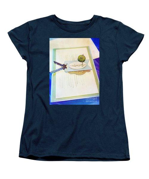 Welcome New Baby Handmade Stationary Women's T-Shirt (Standard Cut) by Vizual Studio