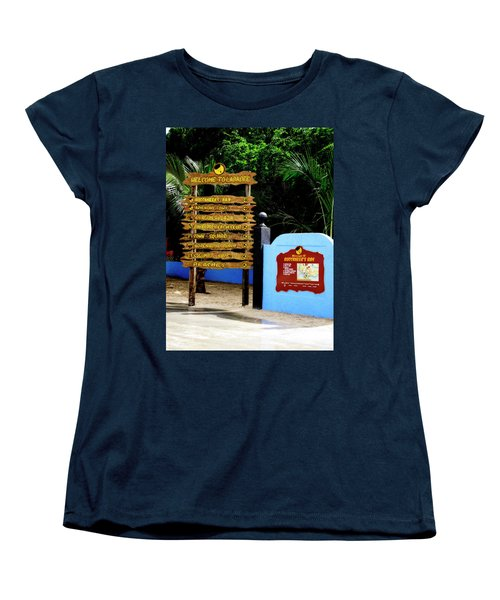 Welcome To Labadee Women's T-Shirt (Standard Cut) by Shelley Neff