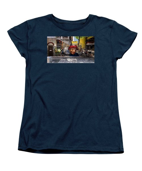 Women's T-Shirt (Standard Cut) featuring the painting Welcome To Our World  by Belinda Low