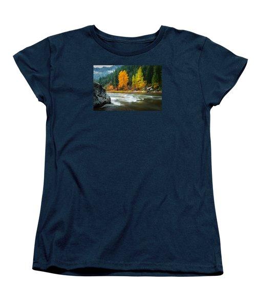 Women's T-Shirt (Standard Cut) featuring the photograph Wenatchee Riverside by Dan Mihai
