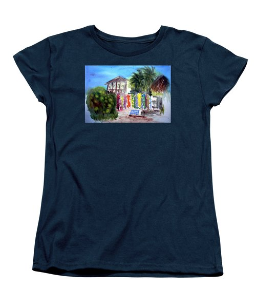 Women's T-Shirt (Standard Cut) featuring the painting West End Market by Donna Walsh