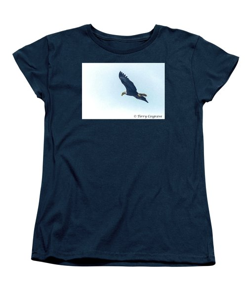 Women's T-Shirt (Standard Cut) featuring the photograph West Point American Eagle. by Terry Cosgrave