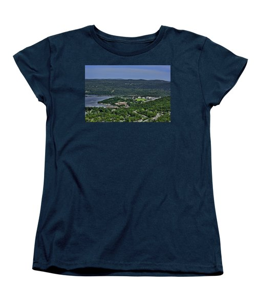 West Point From Storm King Overlook Women's T-Shirt (Standard Cut) by Dan McManus