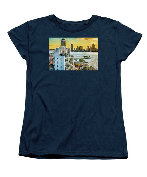 Women's T-Shirt (Standard Cut) featuring the photograph West Village To Jersey City Sunset by Chris Lord
