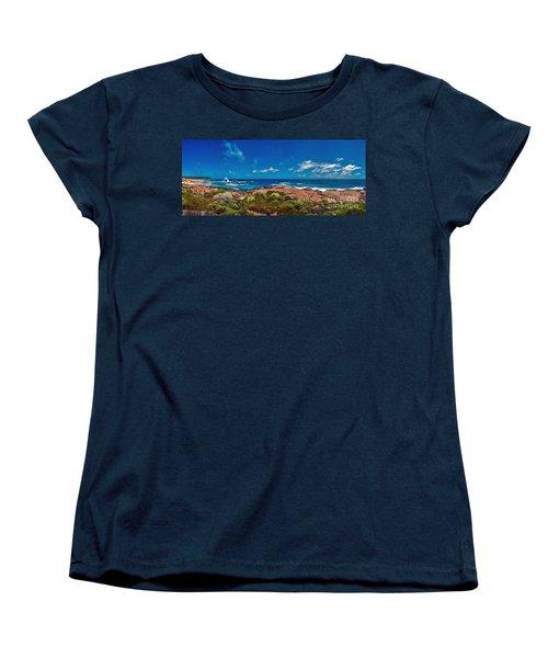 Women's T-Shirt (Standard Cut) featuring the photograph Western Australia Beach Panorama by David Zanzinger