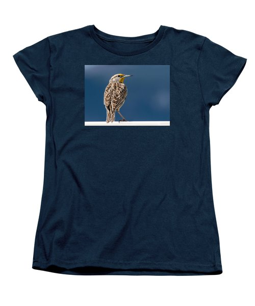 Western Meadowlark Women's T-Shirt (Standard Cut) by Dawn Key