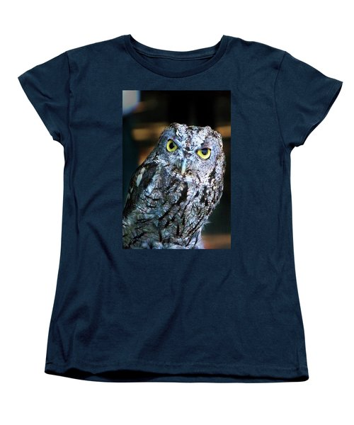 Women's T-Shirt (Standard Cut) featuring the photograph Western Screech Owl by Anthony Jones
