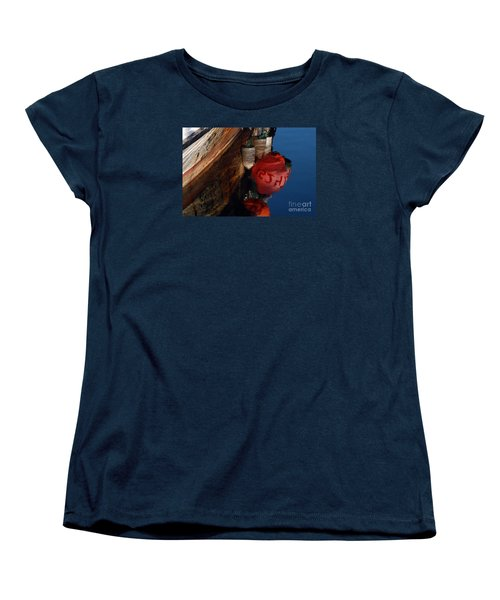 Bouy Reflection Women's T-Shirt (Standard Cut) by Chuck Flewelling
