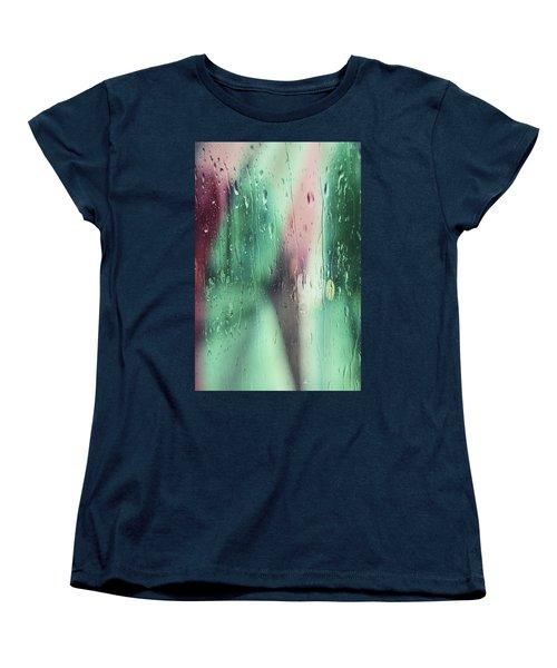 Wet Aqua Women's T-Shirt (Standard Cut) by Allen Beilschmidt