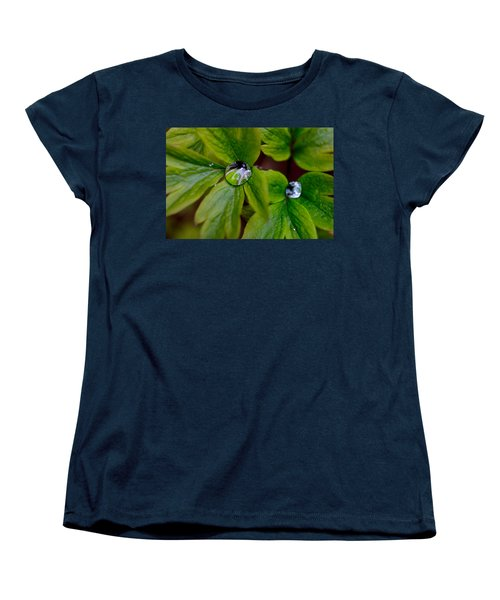 Wet Bleeding Heart Leaves Women's T-Shirt (Standard Cut) by Brent L Ander