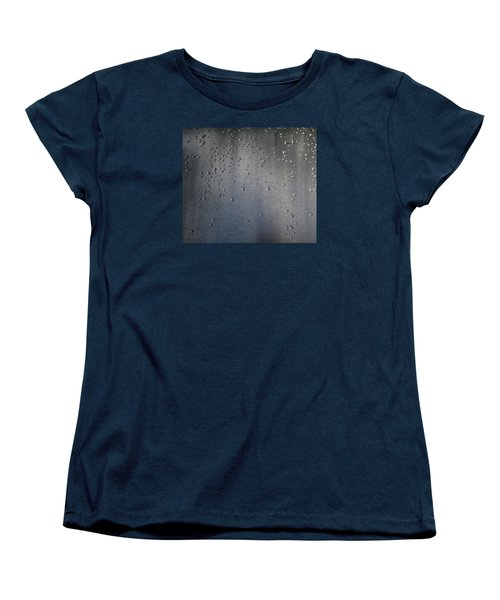 Women's T-Shirt (Standard Cut) featuring the photograph Wet Stainless Steel by Lyle Crump
