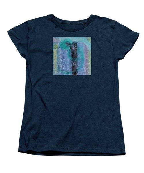 Women's T-Shirt (Standard Cut) featuring the painting What Is From The Deep Heart? by Min Zou