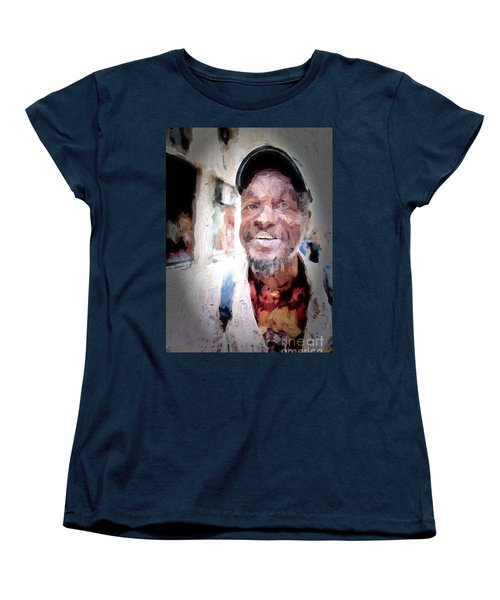 Women's T-Shirt (Standard Cut) featuring the photograph The Smiling Man by Jack Torcello