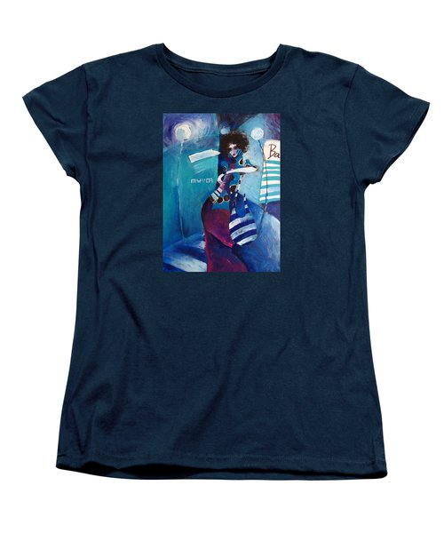 Women's T-Shirt (Standard Cut) featuring the painting What Time Is It by Maya Manolova